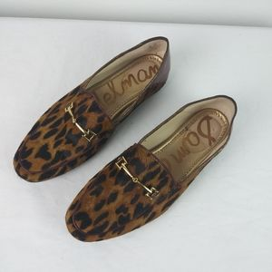 Sam Edelman LORAINE Leopard Real Calf Hair Flats